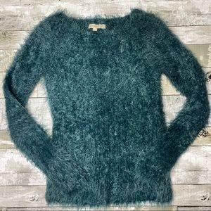 Lineamaglia eyelash fuzzy alpaca wool sweater